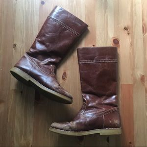 Elephantito tall brown leather boots
